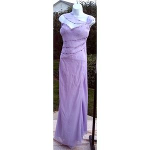 Lavender prom homecoming pageant gown